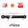 Cylinder hydrauliczny siłownik  SKOK 200 L 430 tłok dwustronny