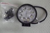 Lampa robocza okrągła 8 LED 12V-24V 8 x 3W