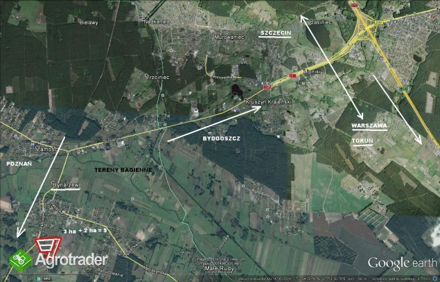 1.5 ha -  uniwersalna działka inwestycyjna k. Bydgoszczy.