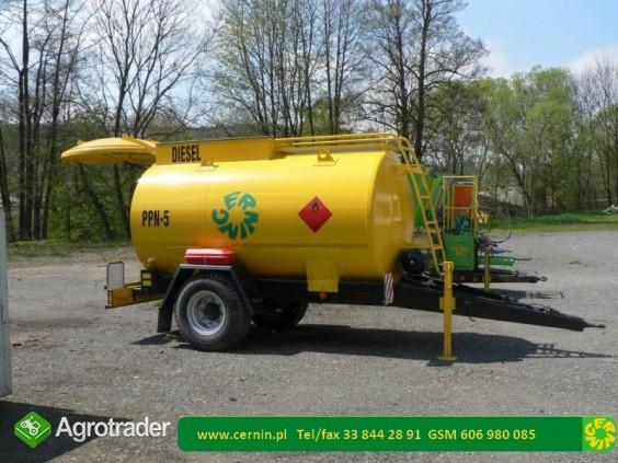 Zbiornik na paliwo 5000 litrów na przyczepie  - zdjęcie 2