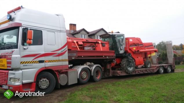 Transport kombajnów sieczkarni maszyn Claas Fent MF Holland Bizon - zdjęcie 5