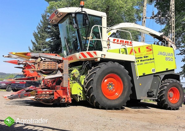 SIECZKARNIA CLAAS JAGUAR 850 4X4 SPEEDSTAR + KEMPER 345 - 2002 ROK - zdjęcie 2