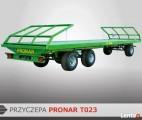 Przyczepa platformowa 11 t PRONAR T023 trzyosiowa