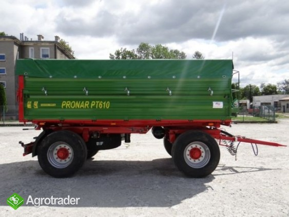 Przyczepa rolnicza 8 t paletowa PRONAR PT608 od ręki wyprzedaż - zdjęcie 1