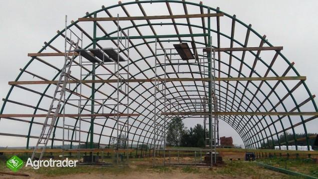 HALA łukowa tunelowa magazynowa hangar 11,8 x 25 - zdjęcie 3