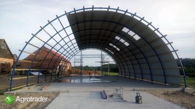 HALA ŁUKOWA tunel rolniczy ciągnik wiata 10,8 x25