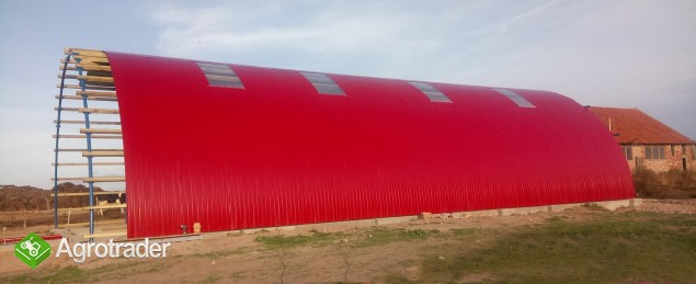 HALA tunelowa konstrukcja stalowa blacha 10,8 x 27 - zdjęcie 6