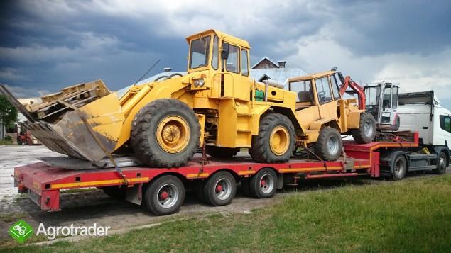 Transport maszyn ciężkich KOPARKO ŁADOWARKA ŁADOWARKA MASZYNY